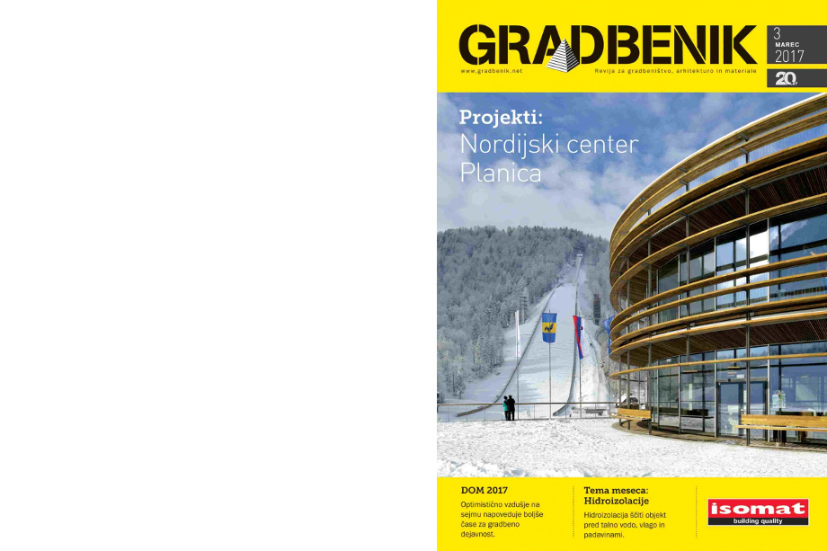 Gradbenik magazine, March 2017