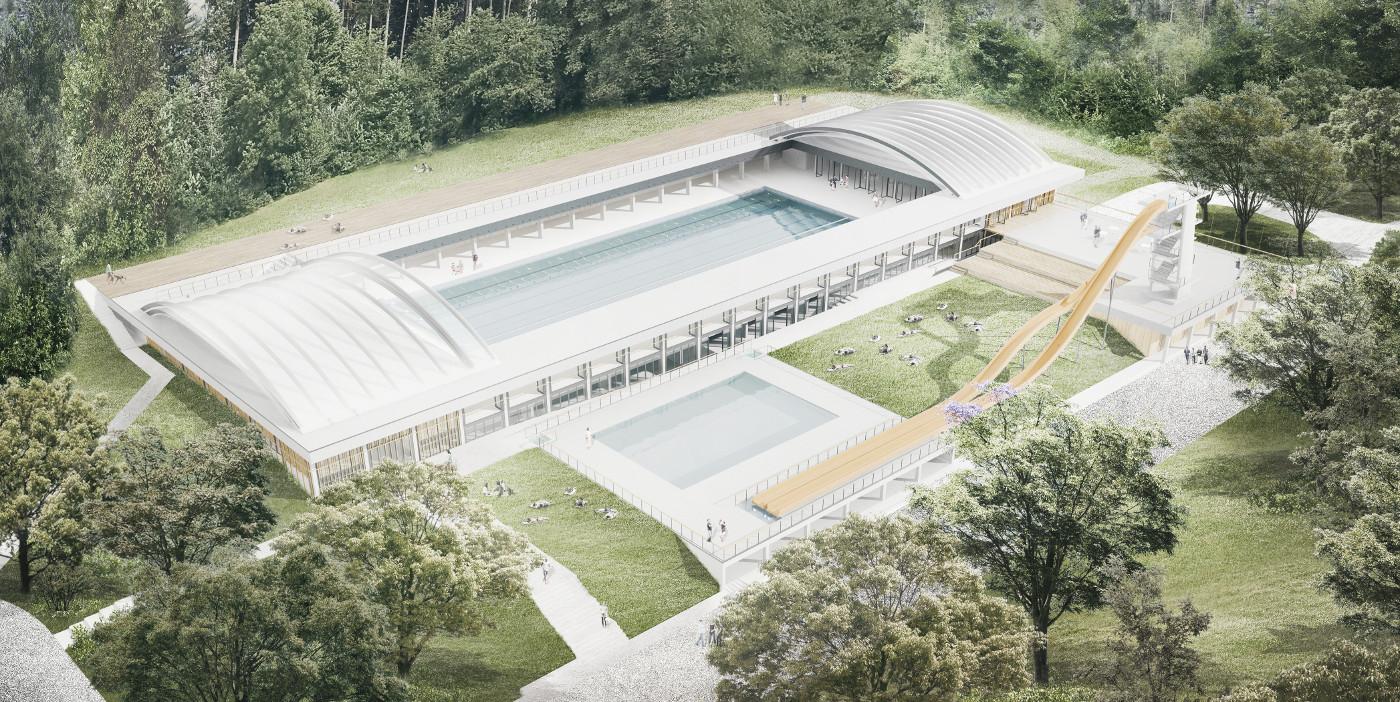 Arhitekturni biro STVAR | Olimpijski kopališki kompleks Obla Gorica v Radovljici